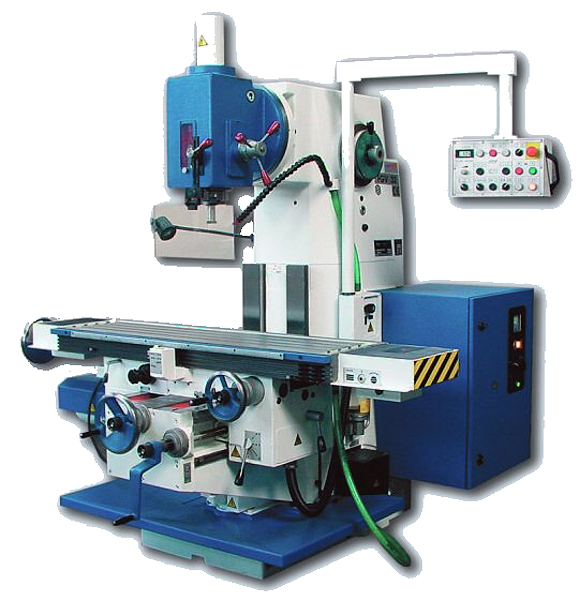 Vertical console milling machine